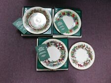 "4 Lenox Christmas Wreath Collector Plates, ""1981, 1982, 1983 & 1992.  Three w"