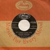 45rpm JOHNNY PRESTON - LET'S LEAVE IT THAT WAY - VG+ POPCORN NORTHERN SOUL