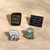 Introverts - Anti Social - Enamel Pin Pins Badge Badges - Funny Quotes
