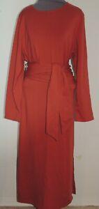 Pure J Jill Brick Red Cotton Knit Madi Dress Petite M