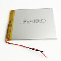2500mAh 3.7V LiPo Polymer Battery For GPS MID Power Bank Tablet PC + PCM 406080