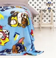 Official Paw Patrol Super Pups Blue Mighty Design Rotary Fleece Blanket Throw
