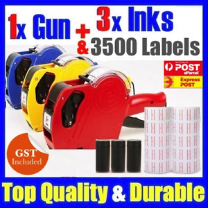 Price Pricing Gun Labeller + Rolls Labels + 3 Inks