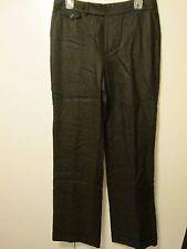 $129 Lauren by Ralph Lauren Cape Town Black Linen Long Pants Lined Size 8 NWT
