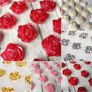 Roses Self Adhesive Diamante Stick on Gem 8pcs 10pcs Pearl Pearls Rose Flower