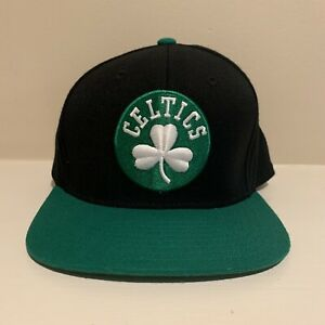 Boston Celtics Throwback Adidas Trefoil Snapback Hat NBA Basketball One Size