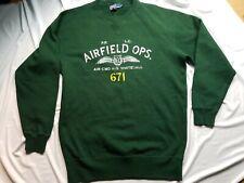 Vtg Polo Ralph Lauren Airfield Ops Crewneck RL Military Whitehall Sweater Shirt