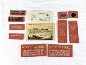 N.Y.C. Boxcar CHAMP DECAL OB-321 SET - CHAMPION DECAL CO. - O Gauge - 1960's Era