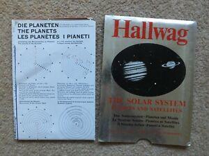 HALLWAG THE SOLAR SYSTEM PLANETS & SATELLITES 1970 VERY RARE