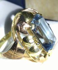 Vintage Goldring 585, echter grosser Aquamarin,