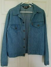 Vintage Levis Mens Orange Tag Denim Blue Jean Jacket Size XL Made In USA