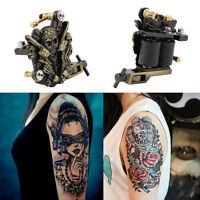 Pro Empaistic Skull Tattoo Machine Gun Liner & Shader Dual 10 Wrap Coil Supply E