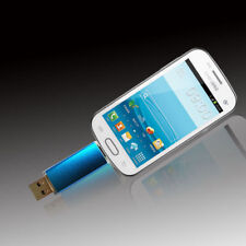 32GB USB 2.0 Flash Drive OTG Dual Port Memory Stick Pen Drives Blue