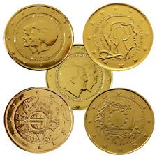 +++ 2 Euro - Niederlande - 24 Karat vergoldet - verschiedene Varianten +++