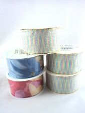 5 Spools Craft Ribbon Woven in Germany 32 Feet Wreaths Floral Gifts Decoration