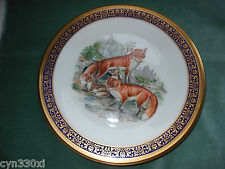 "Lenox Fox Boehm Woodland Wildlife 10-3/4"" Plate Red Foxes 1974"