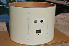 """PEARL EXPORT 22"""" WHITE BASS DRUM SHELL RECOVER LEAVE AS-IS & RESTORE LOT #G843"""