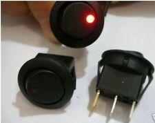 1PCS ROUND 3V/6V/9V/12V LED BULB RED DOT OFF-ON SPST CAR/BOAT ROCKER SWITCH,D8CR