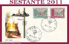ITALIA FDC ROMA C.E.C.A. COMUNITà EUROPEA CARBONE ACCIAIO 1971 ANNULLO BARI G305