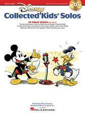 Disney Collected Kids Solos Song Book and CD of Piano Accompaniments