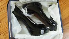 Pour la Victoire Angelie Patent Peep-Toe Platform Pump, Black size 8.5B