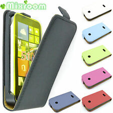 FLIP COVER CASE CUSTODIA IN ECOPELLE PER Nokia LUMIA 510 N510