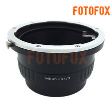 M645-M4/3 for Mamiya 645 Lens to Micro 4/3 M43 Adapter E-PL7 OM-D GH4 G7 MFT GX7