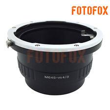 M645-M4/3 for Mamiya 645 Lens to Micro 4/3 M43 Adapter E-PL7 OM-D GH4 G7 MFT GX7