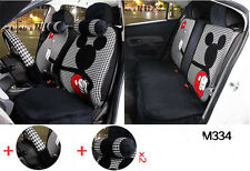 13pc/set new Plush Cartoon Mickey Mouse car covers universal car seat cover M334