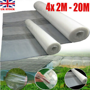 4x 20M - 2M Greenhouse Film Replacement Clear Plastic Sheeting Polythene Cover