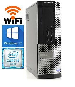 Dell Computer PC Desktop 8GB Ram 500GB HD Intel Quad Core i5 3.10GHz Windows 10