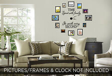 TIME SPENT WITH FAMILY is Wall Art Decal Quote Words Lettering Decor Sticker