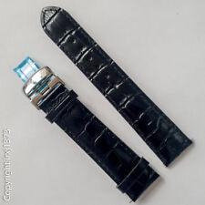 New black leather strap Watchband for Tissot Visodate T019430 20mm Buckle 18mm