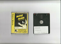 MATHS MANIA Programme On 3 Inch Disc For The AMSTRAD CPC Computers