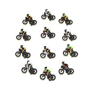 1:87 1:76 00 Scale Model Railway Cyclist Bike Painted People/Figures - Pack of 3