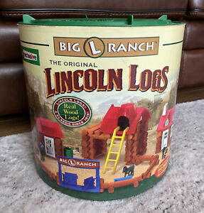 Original Lincoln Logs Big L Ranch Toys R Us Exclusive Set Wood Building Toy