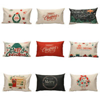 Christmas Letter Sofa Bed PillowCase Cushion Cover Linen Home Decoration