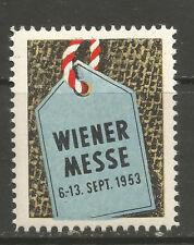 Austria/vienna 1953 Trade Fair poster stamp/lbel (German text)