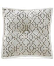 """Croscill Anessa Square Decorative Pillow, Cream-Colored Geo Pattern, 16"""", Beige"""