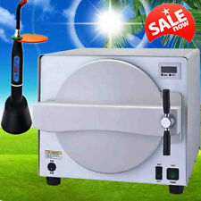 18L 900W Stainless Steel Dental Medical Steam Sterilizer Lab Autoclave+Free Gift