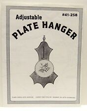 Adjustable PLATE HANGER Woodworking Plan - by Cherry Tree Toys from 1995