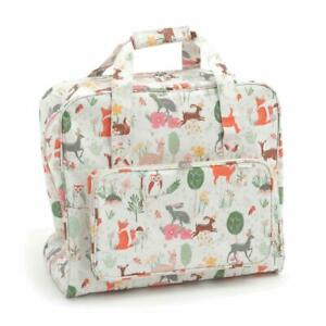 HobbyGift Sewing Machine Bag - Woodland Animal Design - Matt PVC Storage Crafts