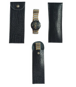Leather pouch watch, Travel watch roll, Watch storage, Leather watch case, gift