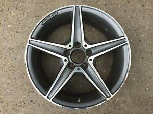 "1 x Mercedes Benz C Class W205 18"" AMG DT GREY FRONT GENUINE OEM Alloy Wheel"