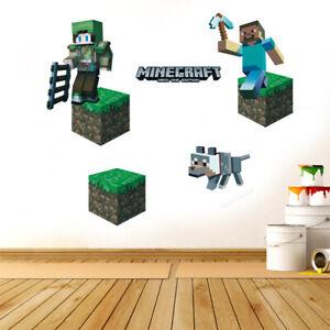 Children Wall Stickers 3D Nursery Kids Boy Room Decals UK  hh2
