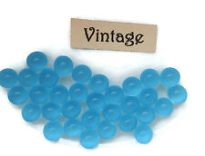 #1641YR Vintage Glass Balls 5mm Eyes Sapphire Round No Hole Marbles Solid NOS