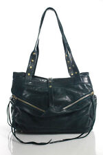 Botkier Green Leather Exposed Zip Detail Bifold Shoulder Handbag Size Medium