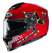 Casque de Moto Intégrale HJC Rpha 70 Isle Of Man mc1 TAILLE XS