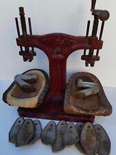 Antique Cast Iron TELLUS  Cobblers Mechanical Shoemaker's machine