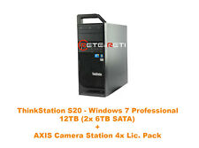 € 819+IVA Lenovo ThinkStation S20 12TB (2x6TB SATA) AXIS Camera Station 4xLic.